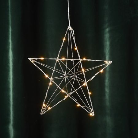 LED Deco Light for Window and Wall Wire Star 3D 20 Lights Indoor – image 3