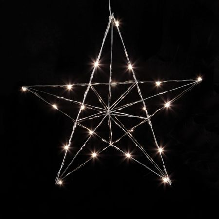 LED Deco Light for Window and Wall Wire Star 3D 20 Lights Indoor – image 2