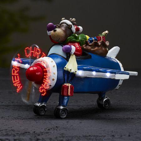 LED Batterie Motion Deko-Beleuchtung Weihnachtsfigur Kidsville Rentier Flieger – Bild 3