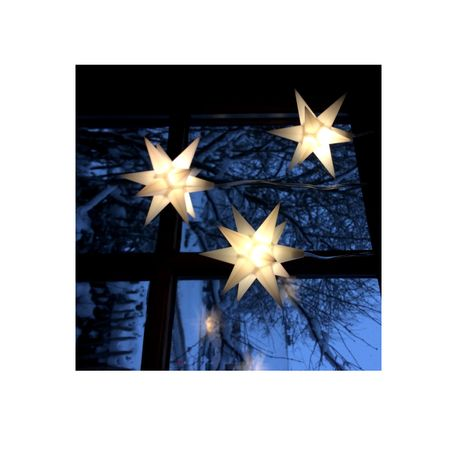 Christmas Hanging Paper Shining Star with Cable  – image 3