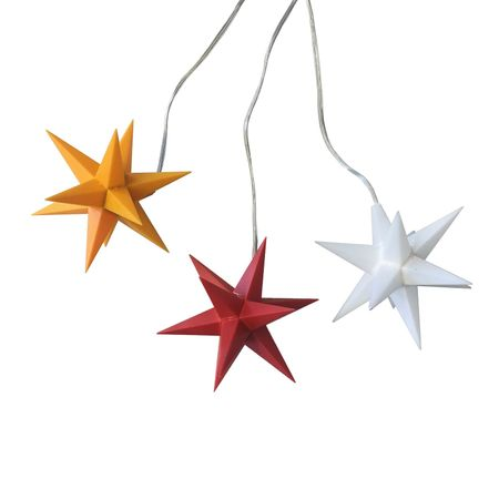 Christmas Hanging Paper Shining Star with Cable  – image 4