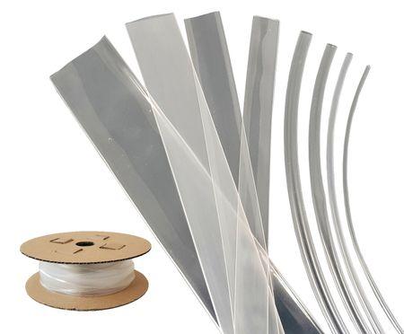 50m Heat-shrinkable Tubing 12mms (3:1) 150°C Transparent