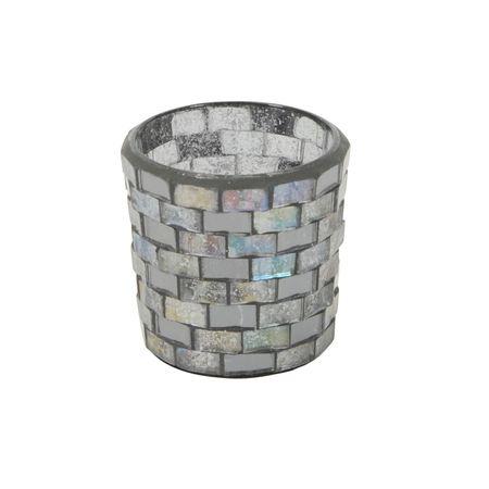 Deko Windlicht Teelichthalter Mosaik aus Glas Auswahl – Bild 5