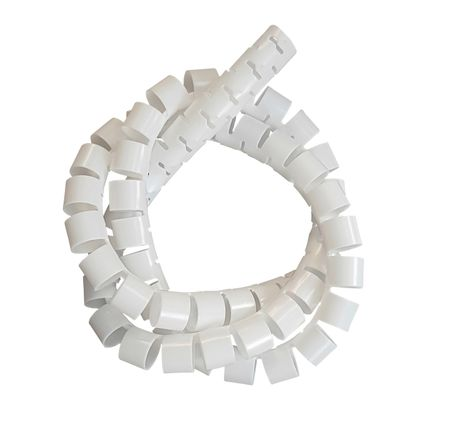 2m Slit Wrapping Band (Harness Wrap) white 15mms incl. tool – image 1