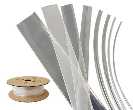 Heat-shrinkable Tubing BEC3 105°C (3:1) Transparent on Cardboard Rolls various sizes