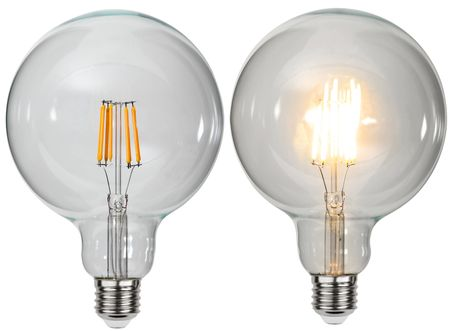 "Extra Large LED Light Bulb ""Filament"" ca. 12,5 x 17,6 cm Retro Vintage Edison – image 1"