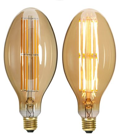 "LED Light Bulb ""Industrial"" ca. 22,7 x 10,0 cm Retro Vintage Edison – image 1"