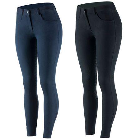 Damen Reithose im Jeans-Style mit Hohem Bund und Vollbesatz – Bild 1