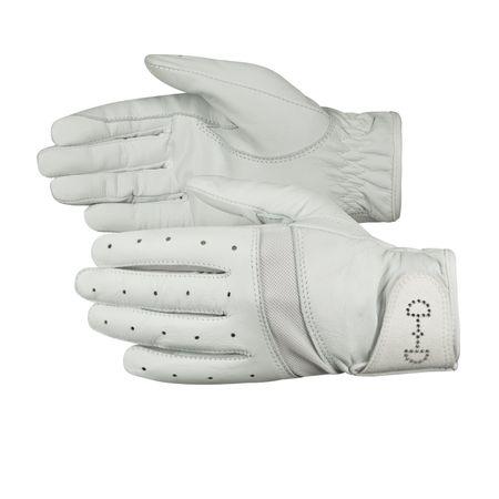 Reitsport Damen Weiche Handschuhe aus Leder mit Kristallen Atmungsaktiv (1 Paar) – Bild 2