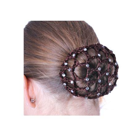 Elegantes Zopfgummi mit Haarnetz ohne Schleife für Turniere – Bild 23