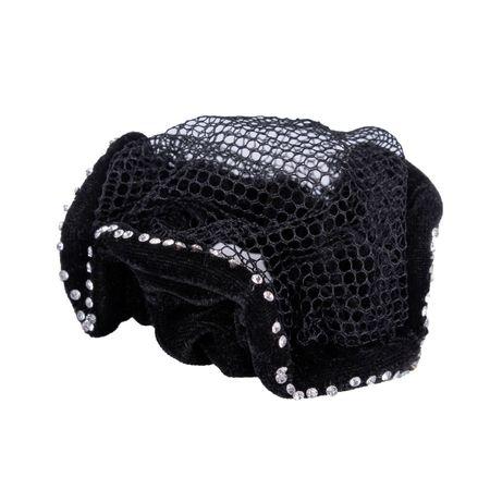 Elegantes Zopfgummi mit Haarnetz ohne Schleife für Turniere – Bild 24
