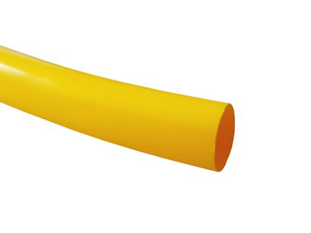1,2m Heat-shrinkable Tubing 9,5mms thin-walled (2:1) halogen-free extremely flame-retardant yellow