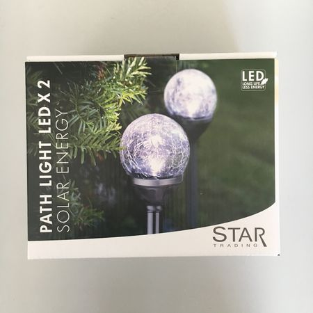 LED Solar Lamp Glass Sphere with Crash Effect (2 pieces) Outdoor – image 4