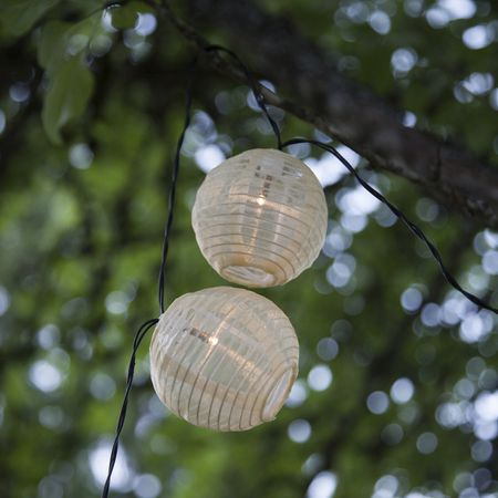 LED Solar Chain of Lights Festival Balls Netting Fabric Outdoor – image 3