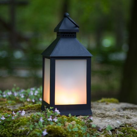 LED Battery Lantern with Flame Effect Warm-white Indoor – image 2