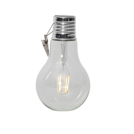 LED solar bulb 18x10 cm with fixing clip outdoor – image 1