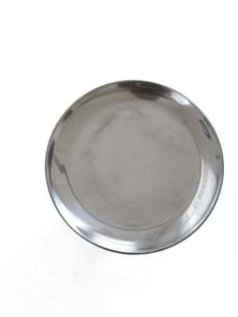 SALE ! Metal Plate shining silver, 25 or 32 cm diameter – image 1
