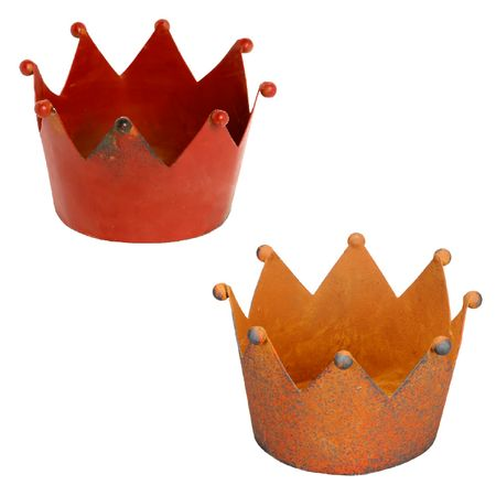 Candle Holder crown metal for dinner candles in different sizes and colors – image 1