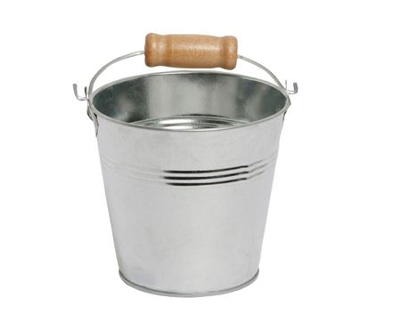 Small Metal Bucket 8,5 x 8 cm with Handhold and Wooden Handle various colours – image 4