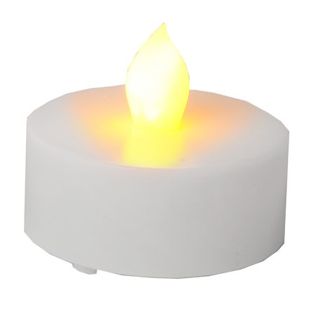 LED battery plastic tealight flickering white incl. Batteries (2 pieces) – image 2