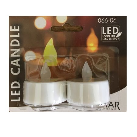 LED battery plastic tealight flickering white incl. Batteries (2 pieces) – image 4