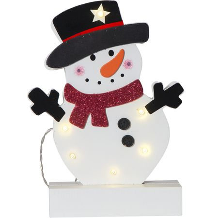 LED battery chandelier wood for kids Santa Claus or snowman – image 3