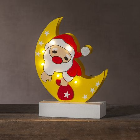 LED battery chandelier wood for kids Santa Claus or snowman – image 6