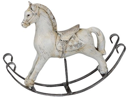 Nostalgic Rocking Horse made of Polyresin and Metal Selection – image 3