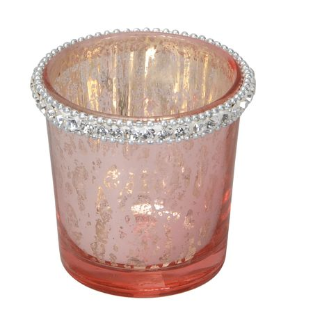 Lantern Tealight Holder made of Glass with Crystal Stone Selection – image 2