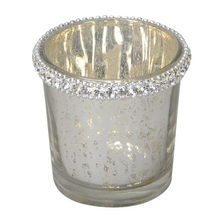 Lantern Tealight Holder made of Glass with Crystal Stone Selection – image 4