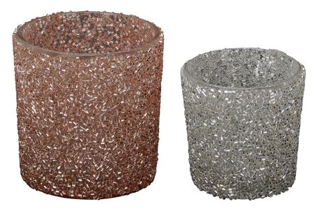 Lantern tealight holder glitter glass selection – image 1