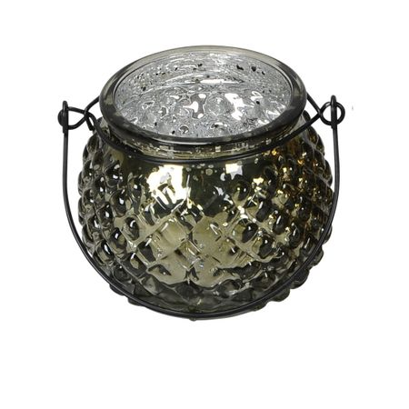Lantern Tealight Holder made of Glass for Hanging or Spot Selection – image 4