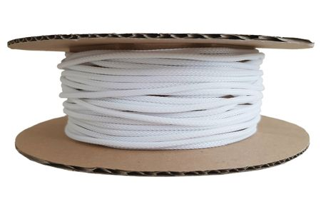 Braided Expandable Sleeving 2-3 mms black or white, spool of 50m – image 3