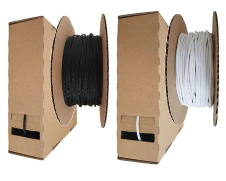 Minibox Braided Expandable Sleeving dispenser 2-3 mms / 10 meters black or white – image 1