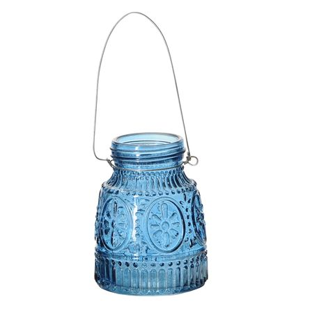 Glass Vase for Hanging or Standing Beautiful Pattern Various Colours – image 2