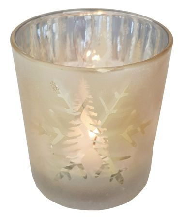 Glass Tea Light Holder Gold ca. 7 x 8 cm Autumn/Winter – image 4