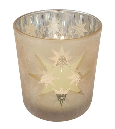 Glass Tea Light Holder Gold ca. 7 x 8 cm Autumn/Winter – image 5
