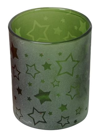 Tea Light Holder Glass Natural Green ca. 7 x 8 cm Lantern various Designs – image 5