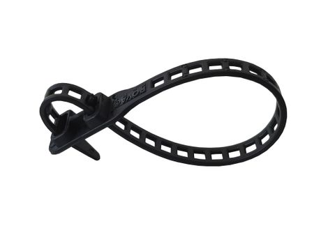 10 x Soft Flexible Plant Tie Cable Tie 7x260mms black and green – image 2