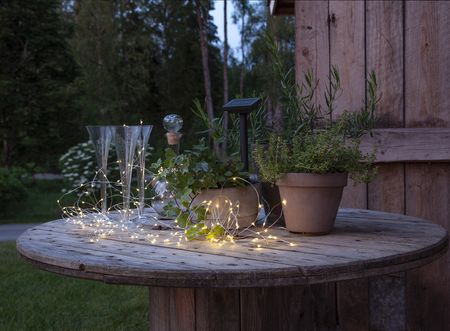 LED Solar Wire Chain of Lights Dew Drop Plant Illumination Outdoor – image 8