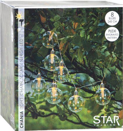 LED Garden Illumination Solar Chain of Lights Chania Retro Bulbs Warm White Outdoor – image 4