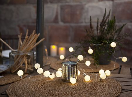 20 LED Battery Chain of Lights Mini Glow warm white ca. 3m with Timer – image 3
