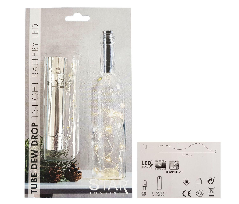 LED Batterie Lichterkette 8 Lichter mit Timer Indoor Motiv Zoo oder Bauernhof