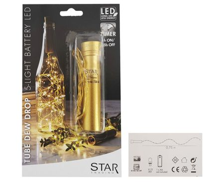 LED Chain of Lights Dew Drops for Bottles, Battery, with Timer choose design – image 4