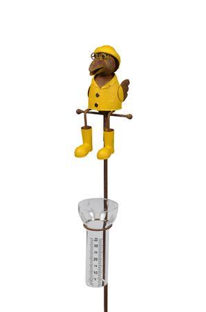 Regenmesser Rabe oder Frosch am Stab H: ca. 120 cm aus Metall u. Glas – Bild 5