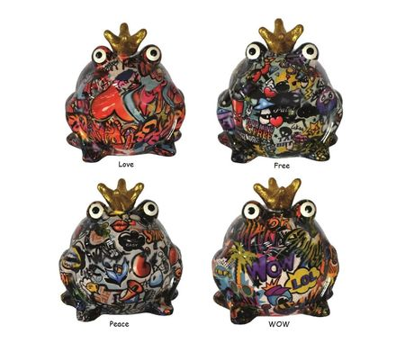 Money Box Graffitti Frog Ceramics Pomme Pidou Sabo Design – image 1