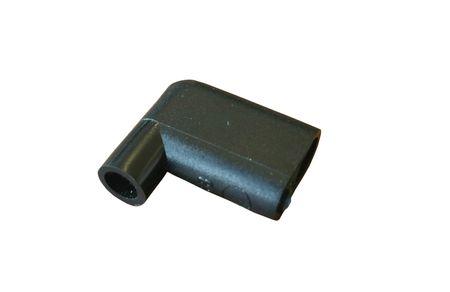 100 Stück Winkeltülle, Isoliertülle aus PVC für 90° Winkel - Flachsteckhülse