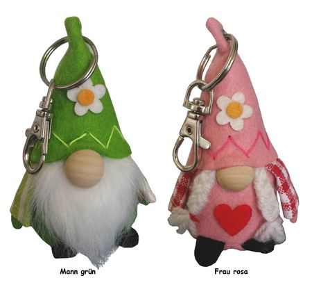 Keyring Tag with Carabiner Gnome Carmen & Camillo, Selection – image 1