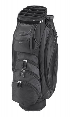 Silverline Golf Cartbag Portland, schwarz – Bild 1