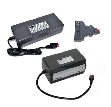 Golf-Kit: AccuPower Lithium-Ionen Akku (25,9V) für Golftrolleys mit Ladegerät und variablem Stecker – Bild 1